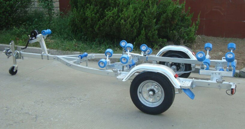 china single axle galvanized boat trailer
