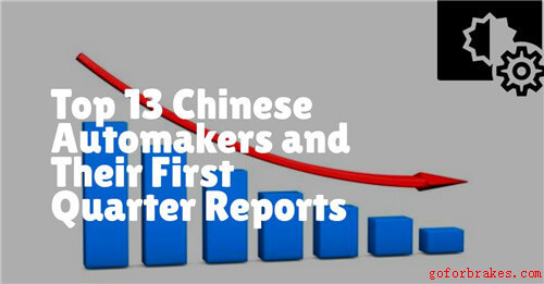 Top 13 Chinese Automakers and Their First Quarter Reports in 2020